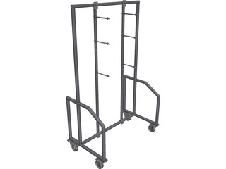 Fixture Shelve Rack CAD 3D Model