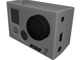 GoPro HD Hero 2 CAD 3D Model