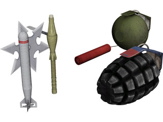 Weapons Collection 3D Model