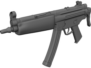 MP5 Machine Gun 3D Model