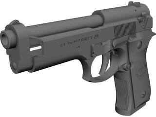 Beretta 92FS CAD 3D Model