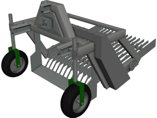 Seedlings Digger CAD 3D Model