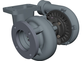 Turbocharger CAD 3D Model
