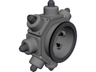 Turning Center Turret CAD 3D Model