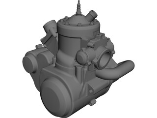 Two Stroke Motorbike Engine 500cc CAD 3D Model
