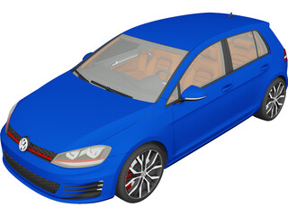 Volkswagen Golf GTI VII (2014) 3D Model
