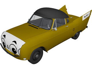 Mr. Beep Cartoon Car 3D Model