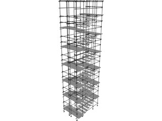 Scaffold Stairs 3D Model