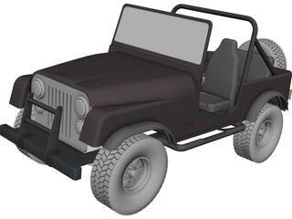 Jeep Wrangler CJ7 (1978) CAD 3D Model