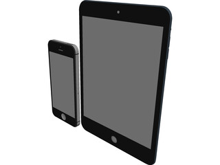 Apple iPad Mini and iPhone 5 3D Model