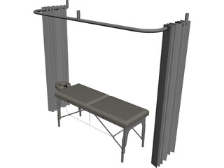 Massage Table CAD 3D Model