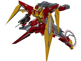Kyrios Gundam 3D Model