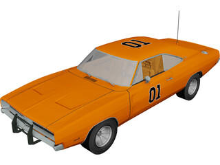 Dodge Charger General Lee (1969) 3D Model