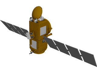 Jason-1 Satellite 3D Model