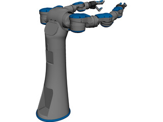 Two-Armed Industrial Robot 3D Model