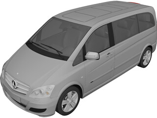 Mercedes-Benz Viano (2010) 3D Model