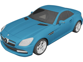Mercedes-Benz SLK-Class R172 (2012) 3D Model