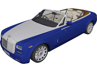 Rolls-Royce Phantom Drophead Coupe (2013) 3D Model