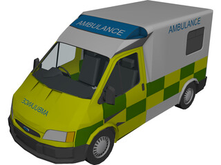 Ford Transit Ambulance 3D Model