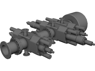 Blowout Preventer Stack CAD 3D Model
