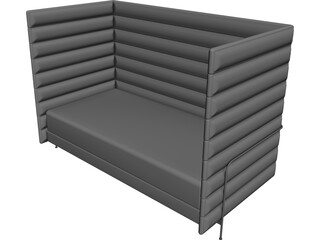 Sofa Alcove Bouroulec CAD 3D Model