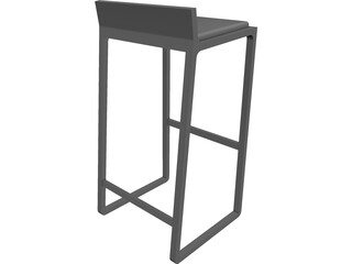 Bar Stool Joe CAD 3D Model