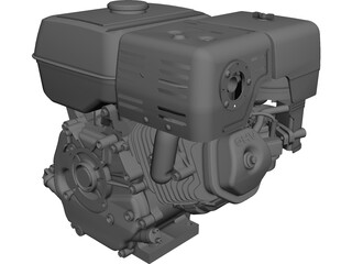 Honda GX240-270 Engine CAD 3D Model