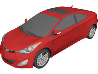 Hyundai Elantra Coupe (2012) 3D Model