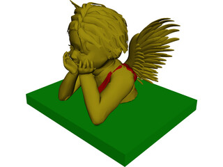 Angel 3D Model 3D Preview