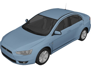 Mitsubishi Lancer ES 3D Model 3D Preview