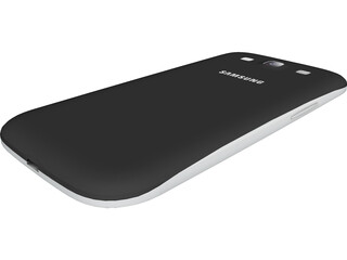 Samsung Galaxy 3 Black 3D Model