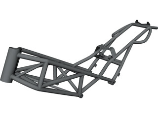 Ducati Monster M900 Frame CAD 3D Model