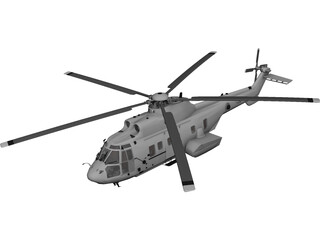 Eurocopter EC225 Super Puma 3D Model