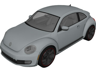 Volkswagen Beetle Turbo (2012) 3D Model