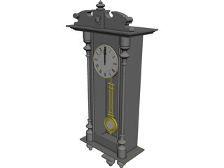 Pendulum Clock 3D Model