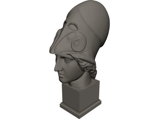 Athena Head 3D Model
