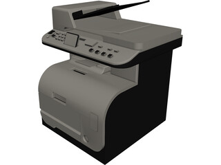 Printer HP CAD 3D Model