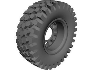 Offroad Tire CAD 3D Model