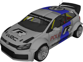 Volkswagen Polo WRC 3D Model