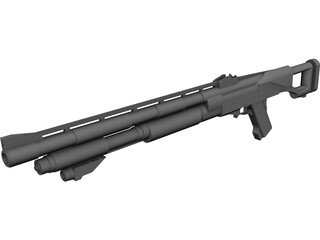 Assault Shotgun Concept 3D Model