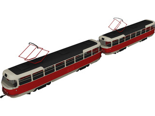 Tatra T30 Train Tramvay 3D Model