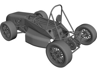 UTSA FSAE Car (2009) CAD 3D Model