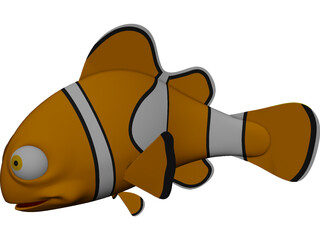 Nemo Fish CAD 3D Model