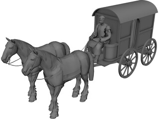 Roman Carriage 3D Model