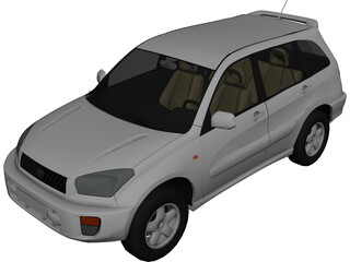 Toyota RAV4 5-door (2001) 3D Model