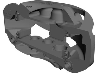 Brake Caliper AP Racing CP6766-1cd CAD 3D Model