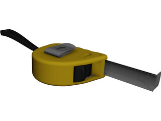 Ruler Measuring Tape 3D Model
