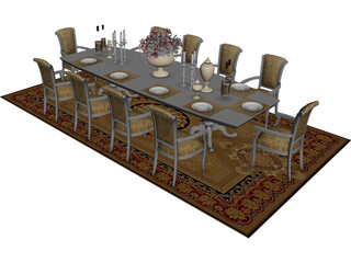 Tables and Chairs 3D Model