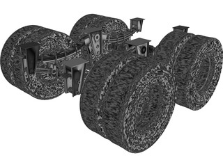 Truck Axle 12 Ton CAD 3D Model