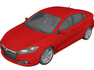 Dodge Dart GT (2013) 3D Model 3D Preview